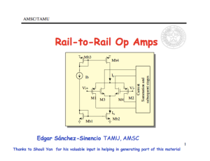 Rail To Rail Op  s on op amp comparator